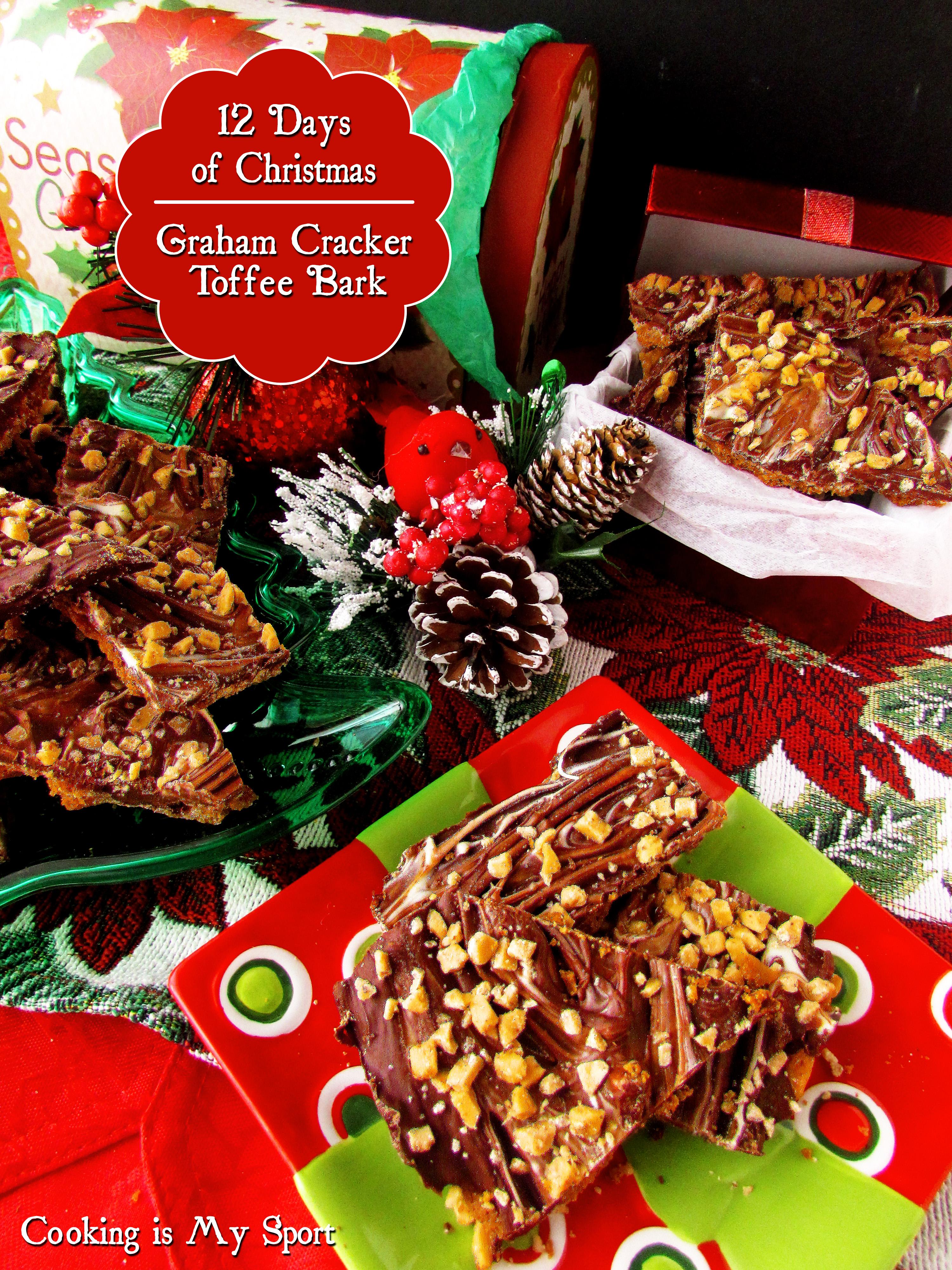 Graham Cracker Toffee Bark5