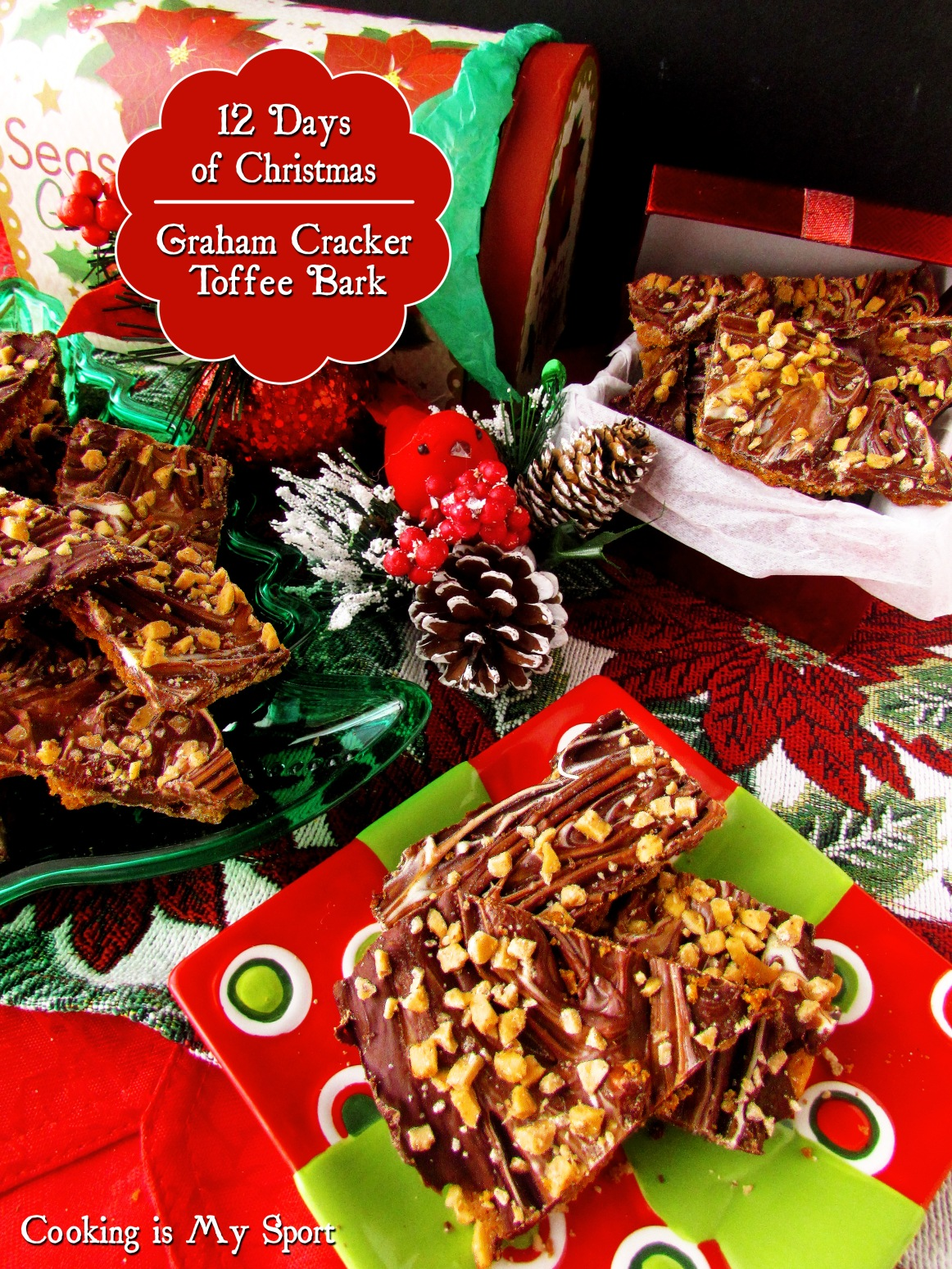 Graham Cracker Toffee Bark5