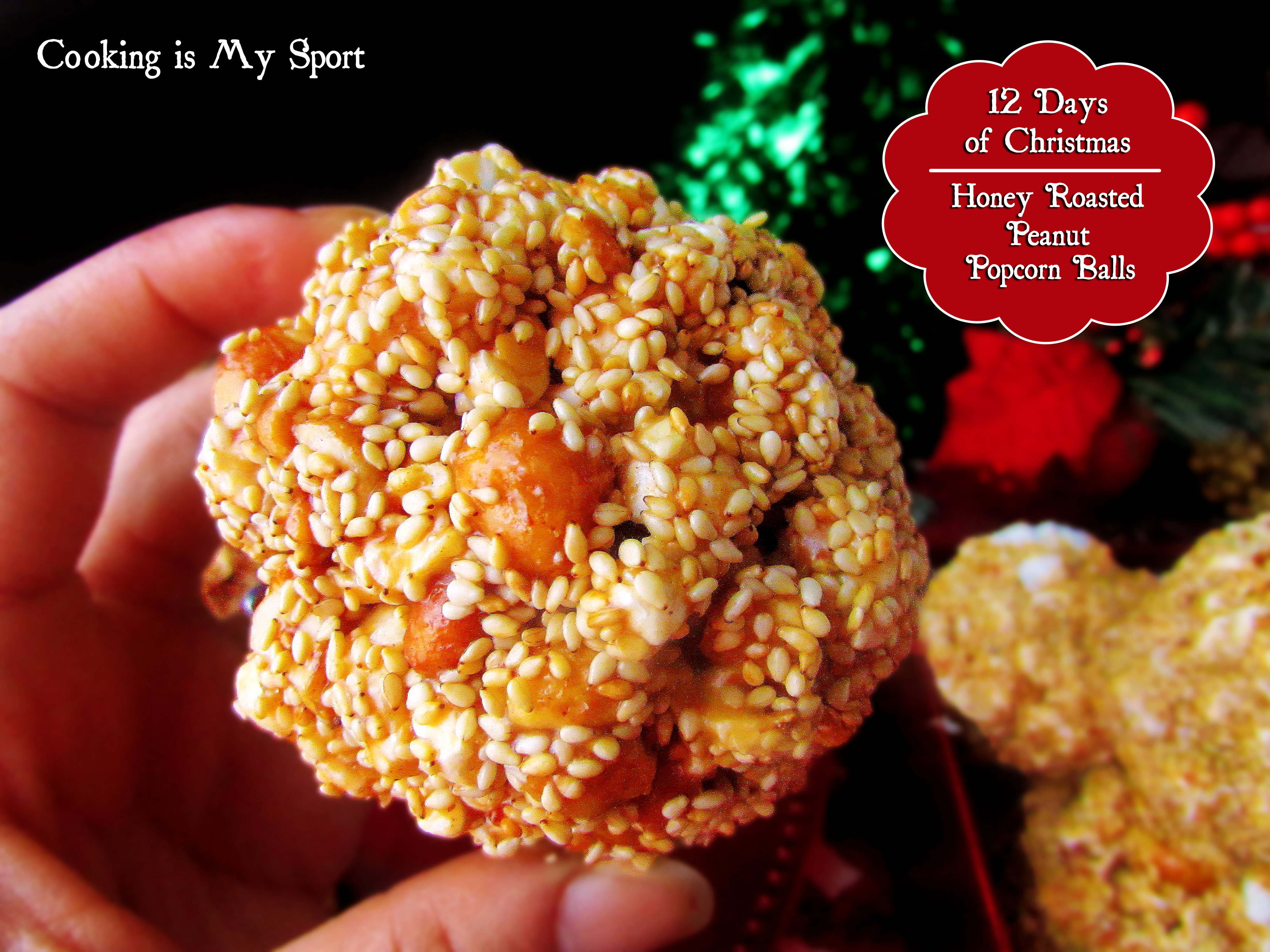 Honey Roasted Peanut Popcorn Balls1