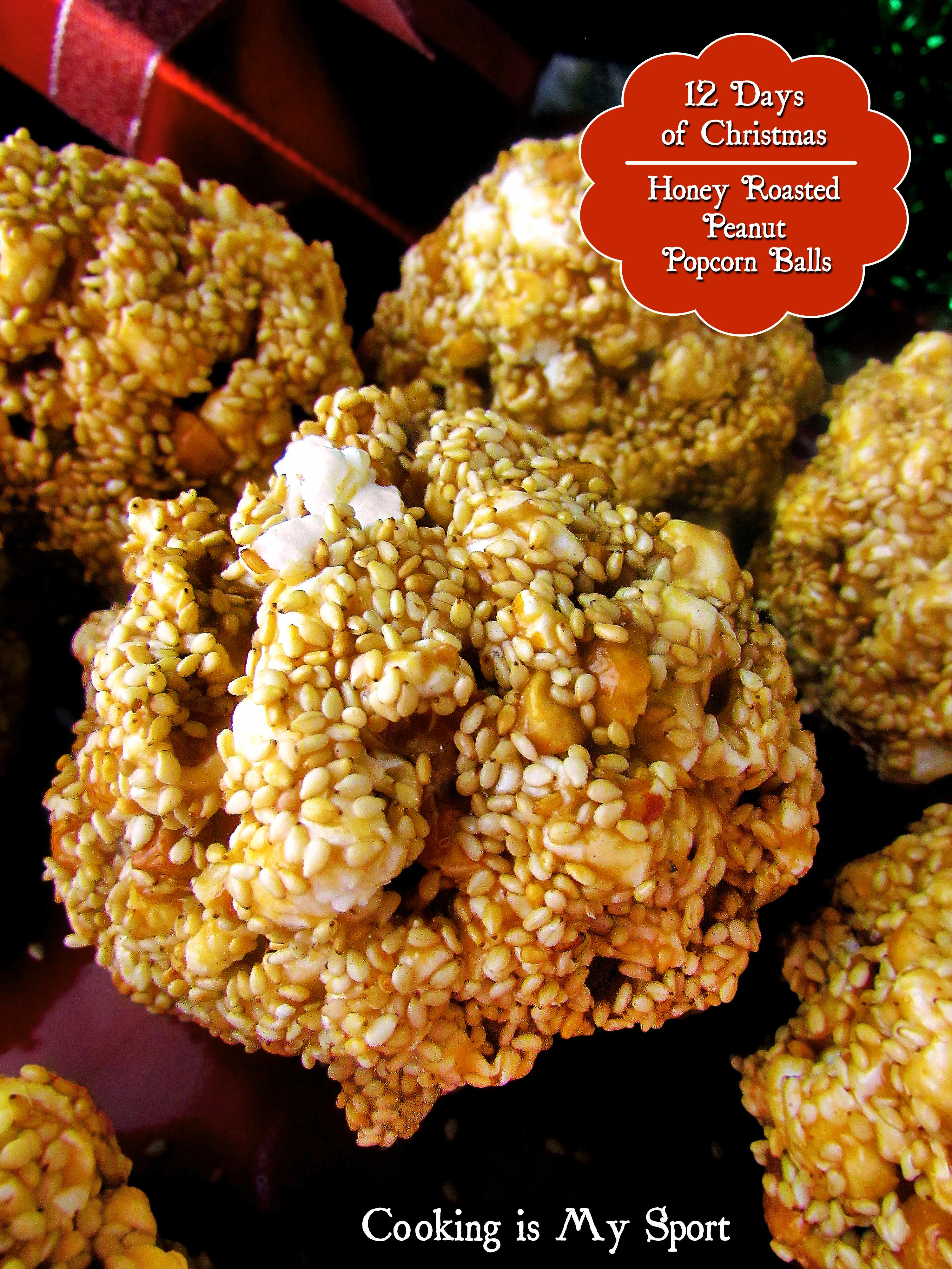 Honey Roasted Peanut Popcorn Balls4