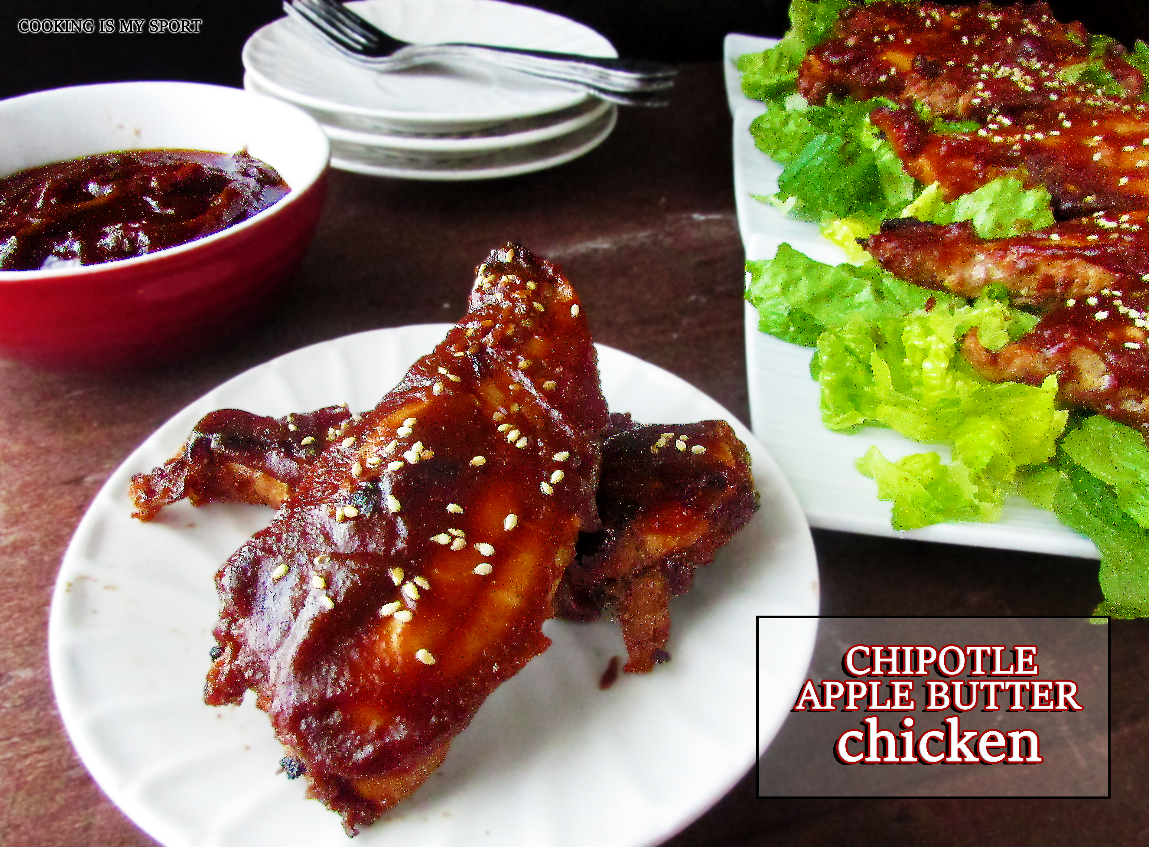 Chipotle Apple Butter Chicken | Cooking Is My Sport