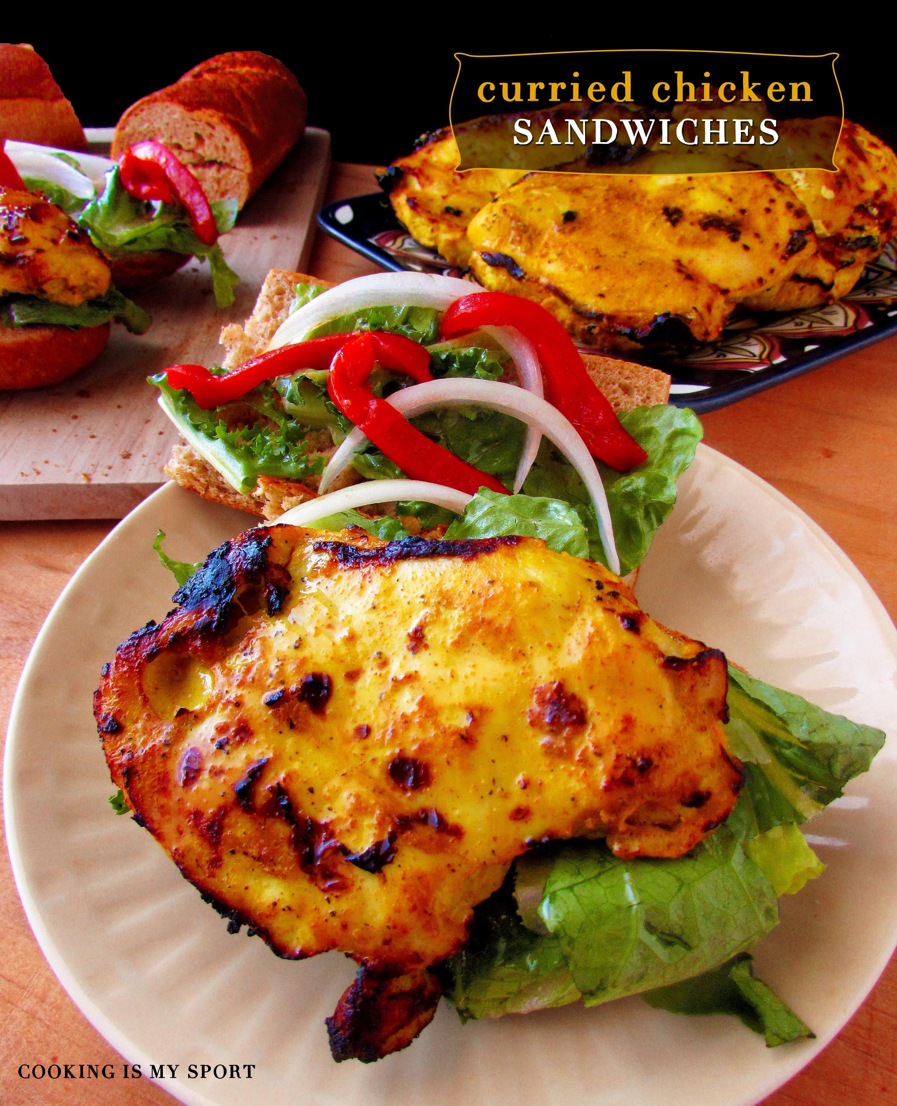 Curried Chickeen Sandwich1