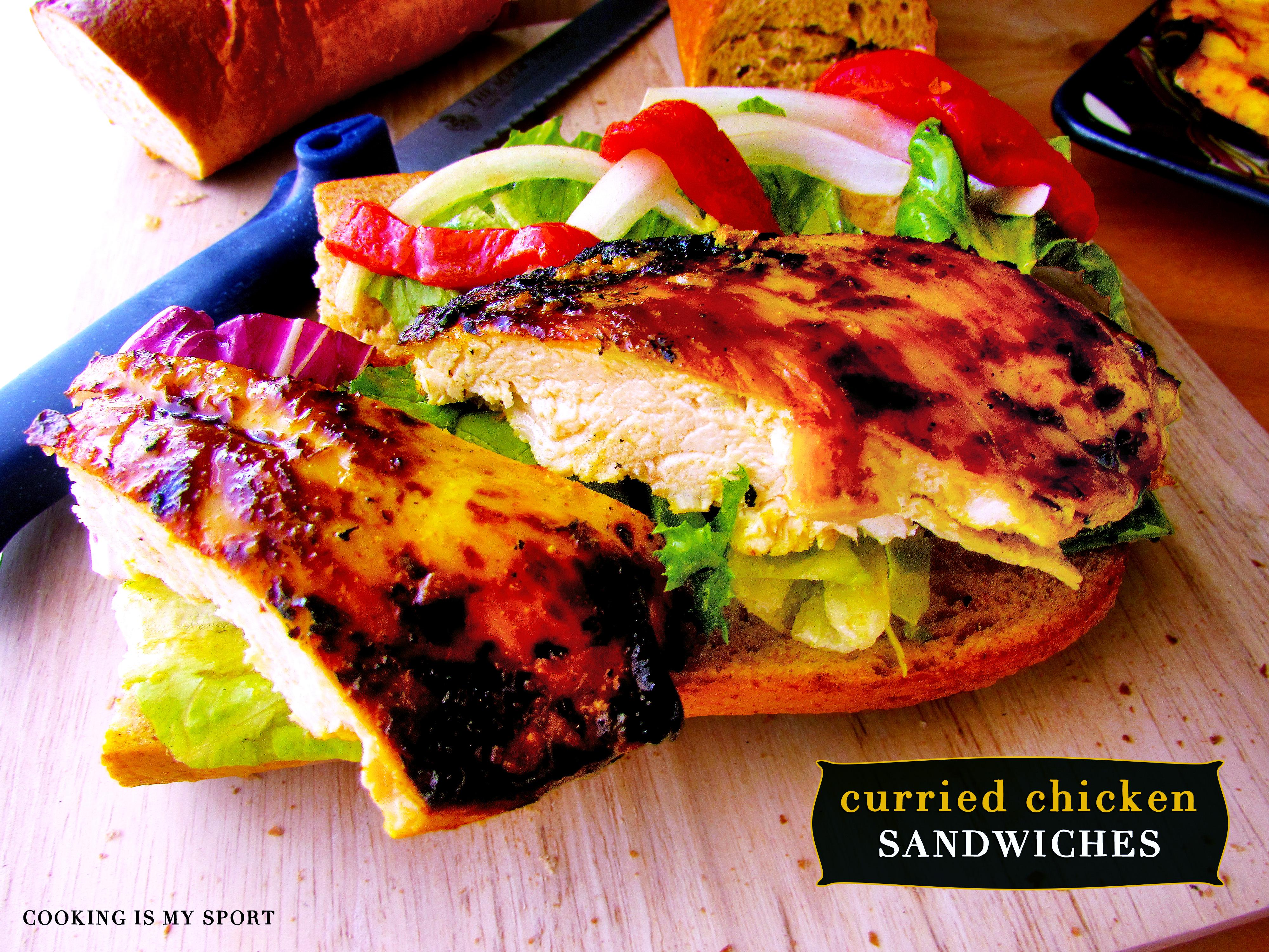 Curried Chickeen Sandwich2
