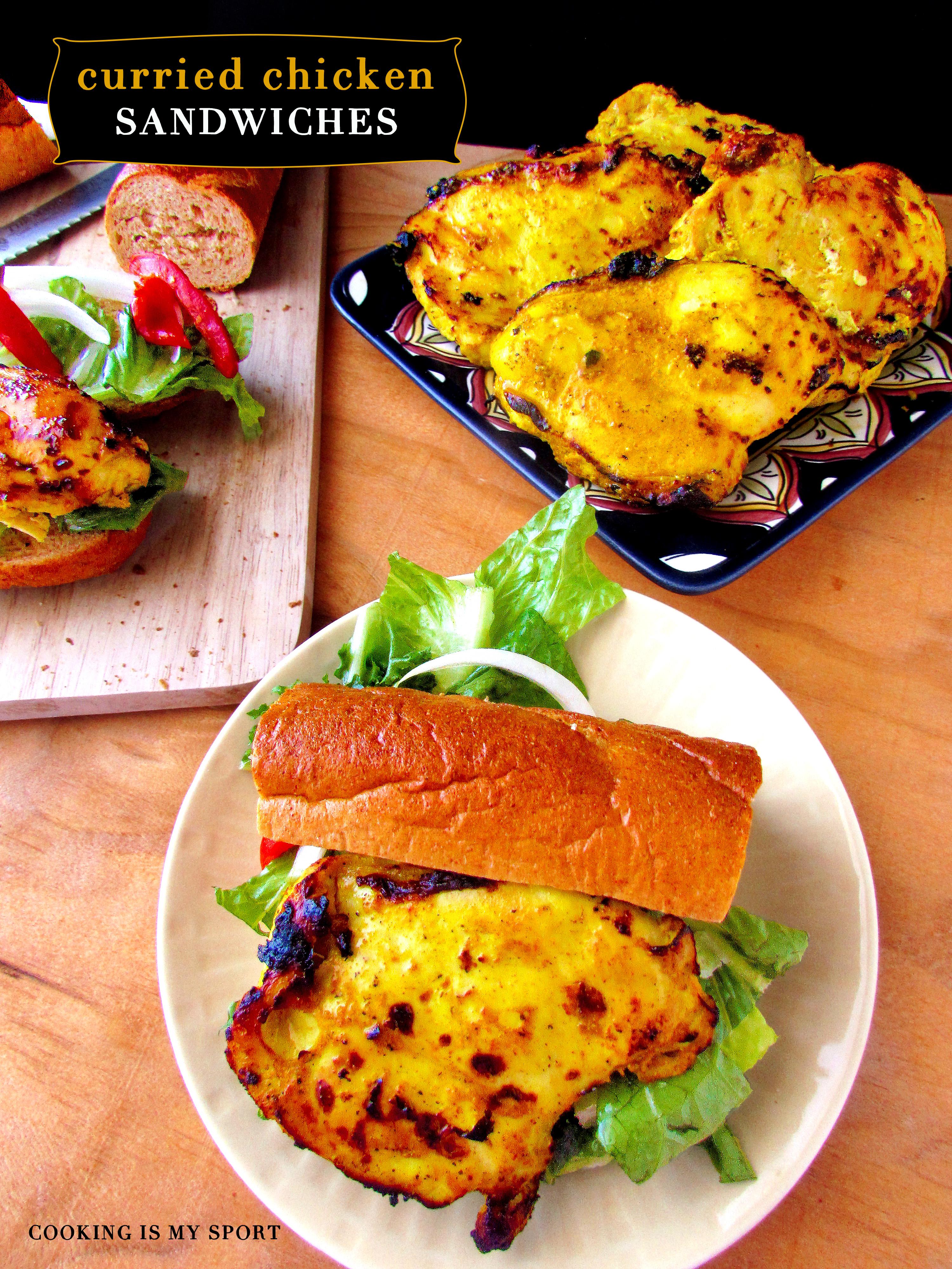 Curried Chickeen Sandwich4