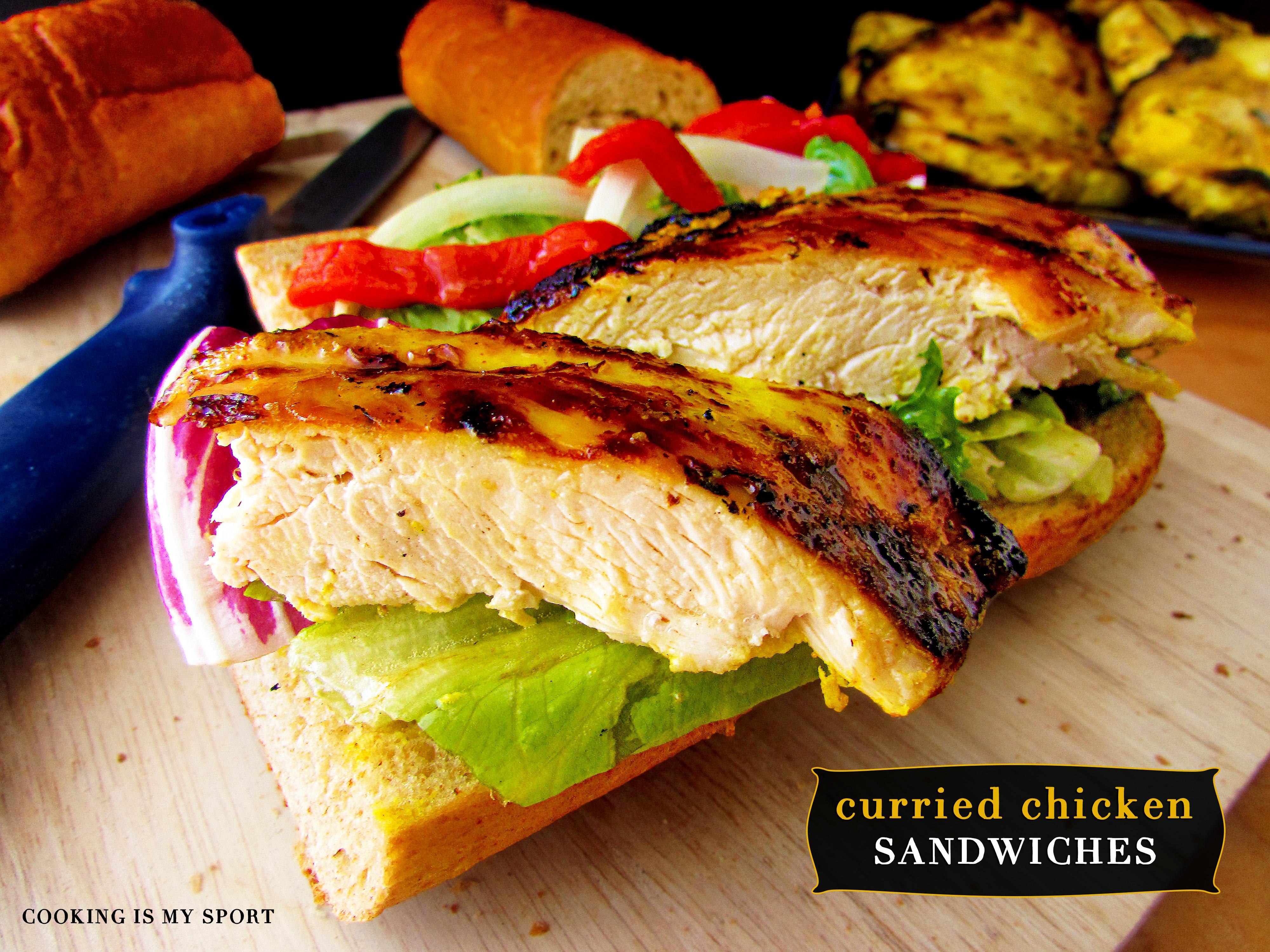 Curried Chickeen Sandwich6