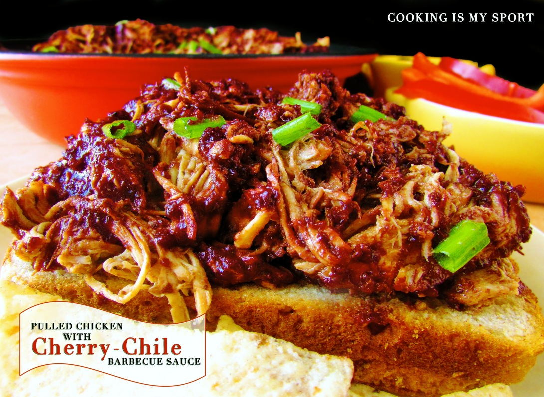Pulled Chicken Cherry Chile Sauce1
