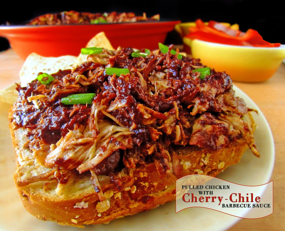 Pulled Chicken Cherry Chile Sauce2