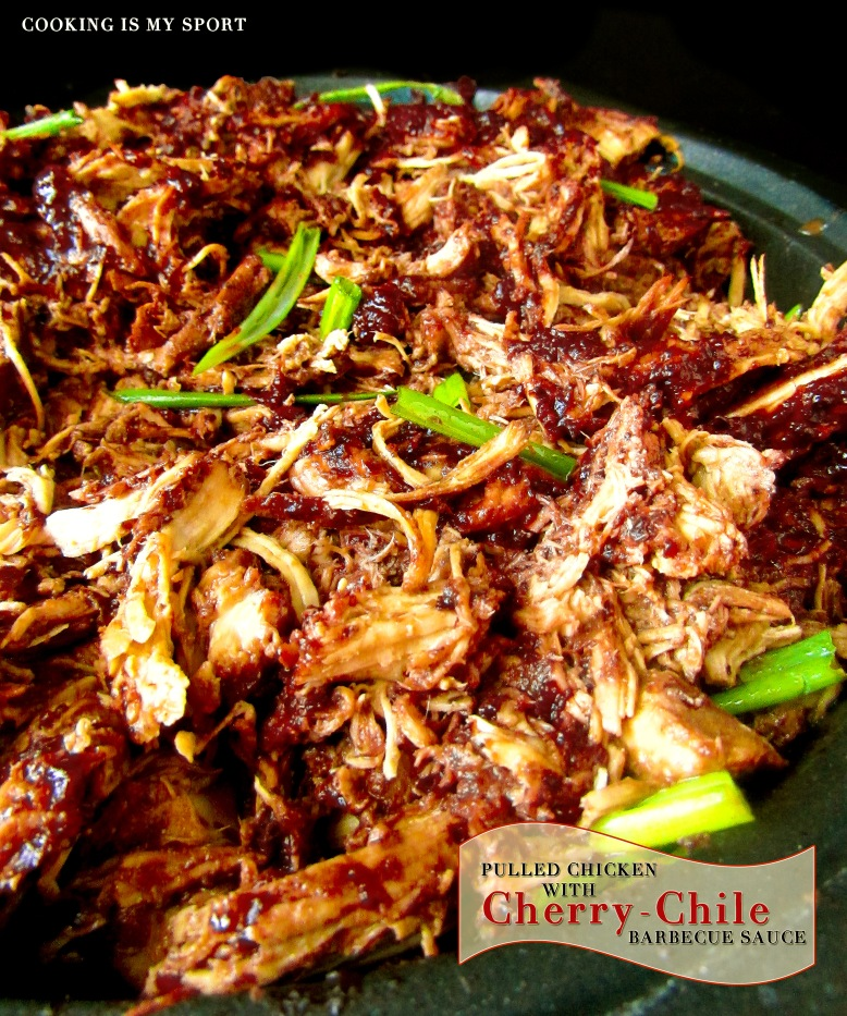 Pulled Chicken Cherry Chile Sauce5