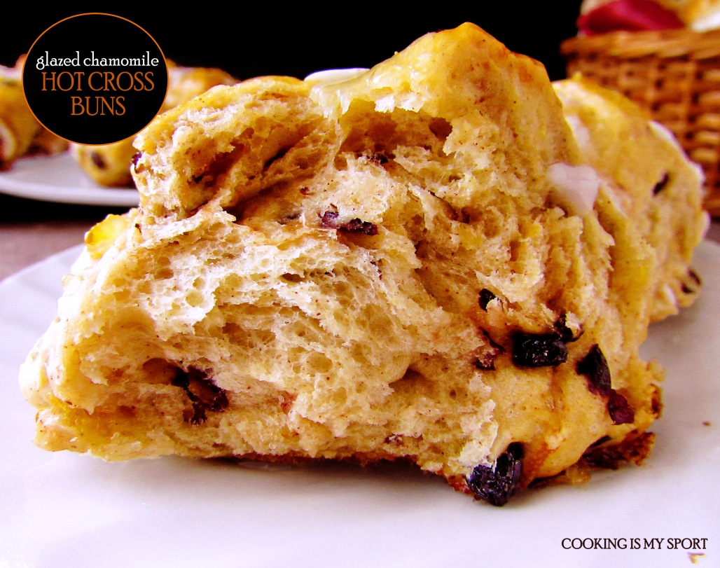 Chamomile Glazed Hot Cross Buns6