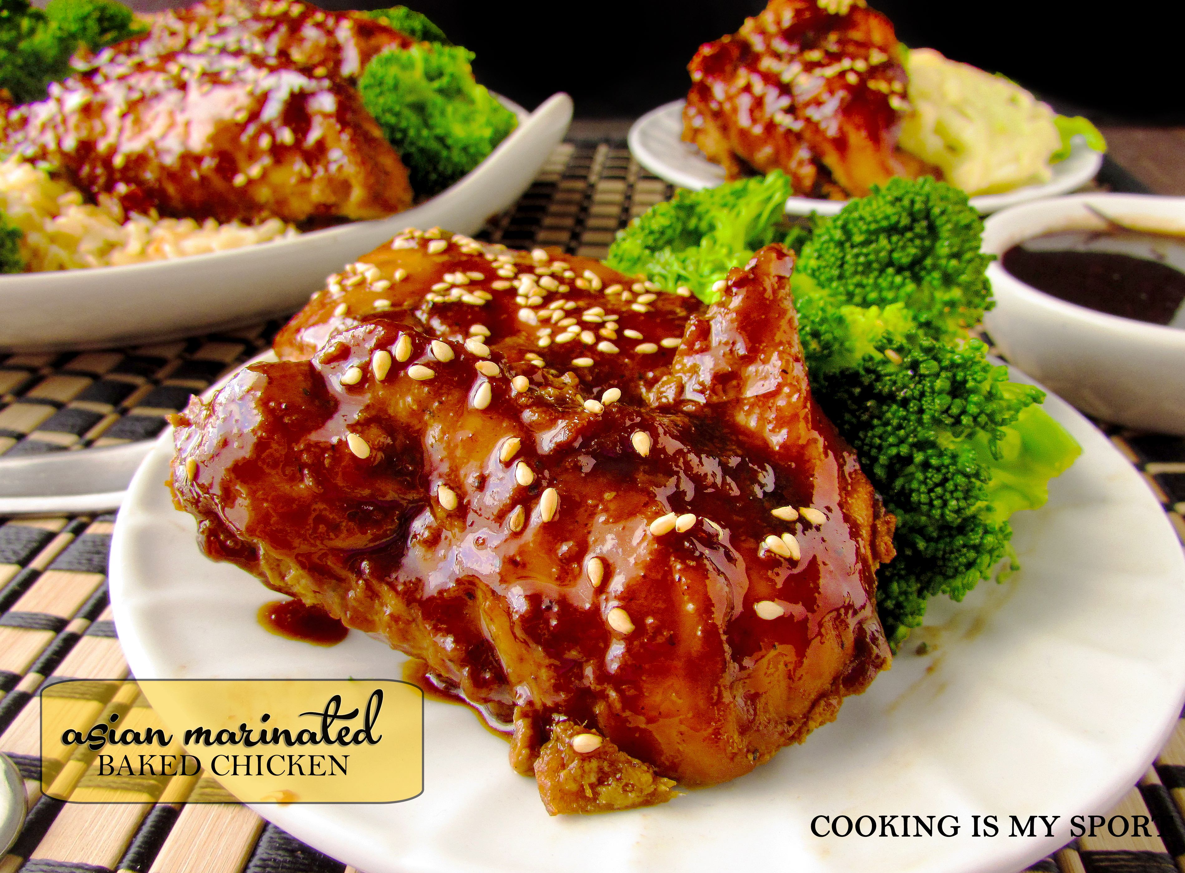 Asian Marinated Baked Chicken1