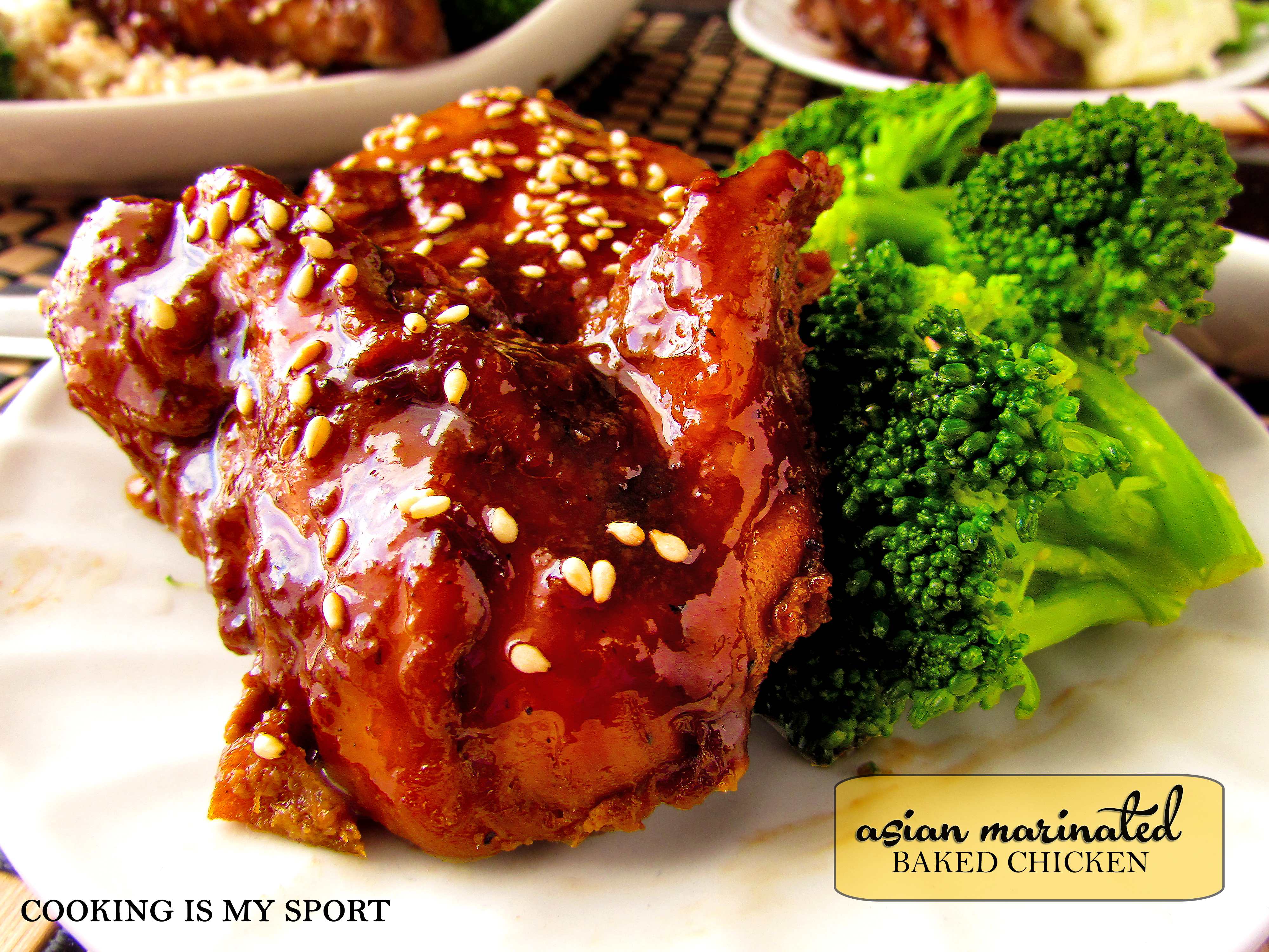 Asian Marinated Baked Chicken | Cooking Is My Sport
