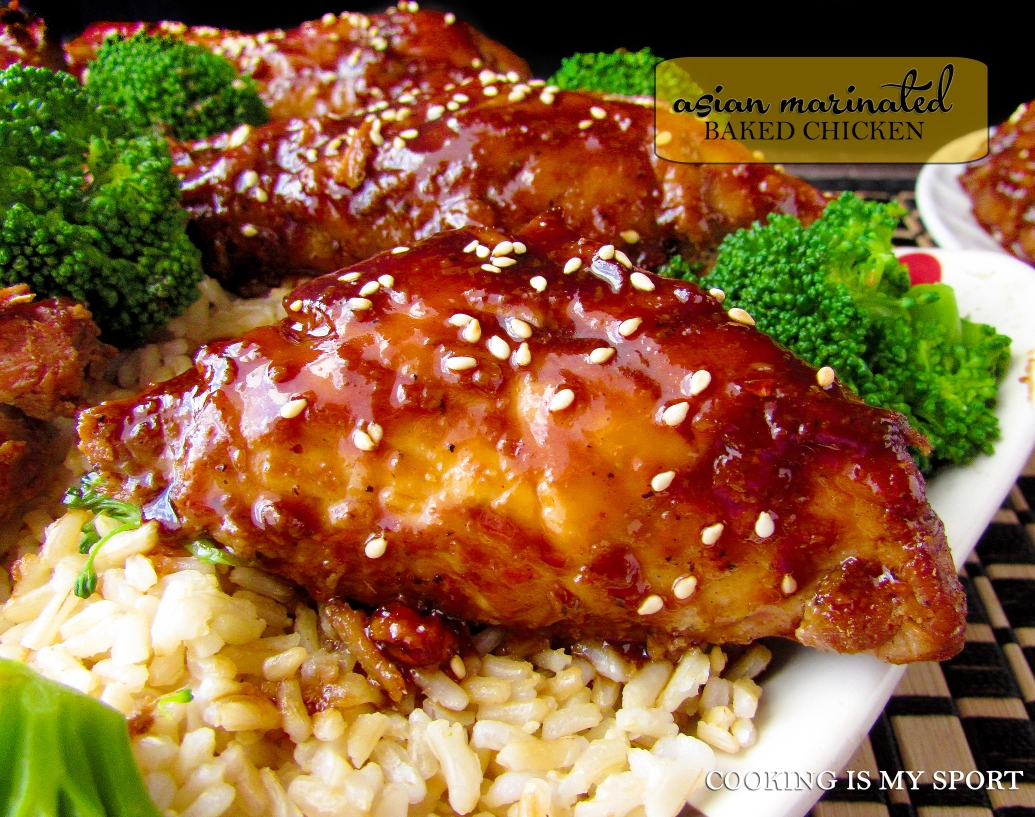 Asian Marinated Baked Chicken4
