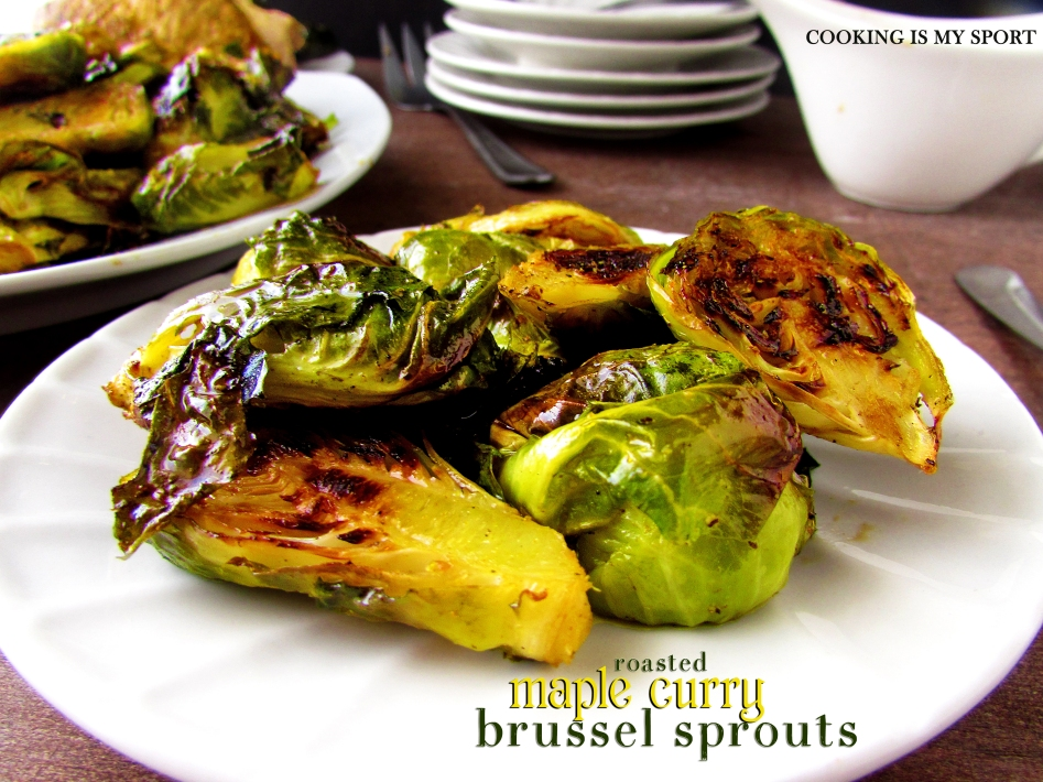 Maple Curry Brussel Sprouts1