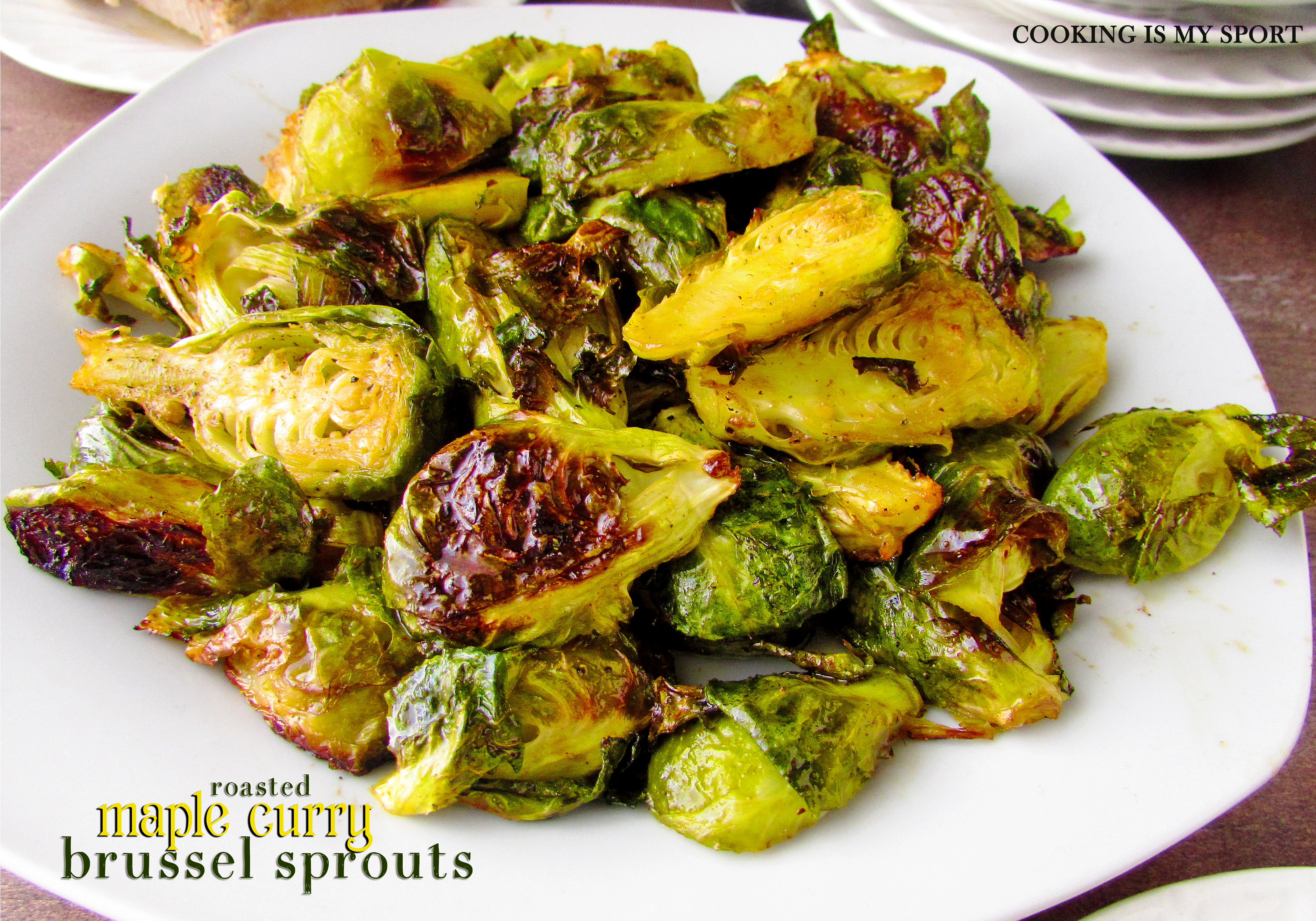 Maple Curry Brussel Sprouts2