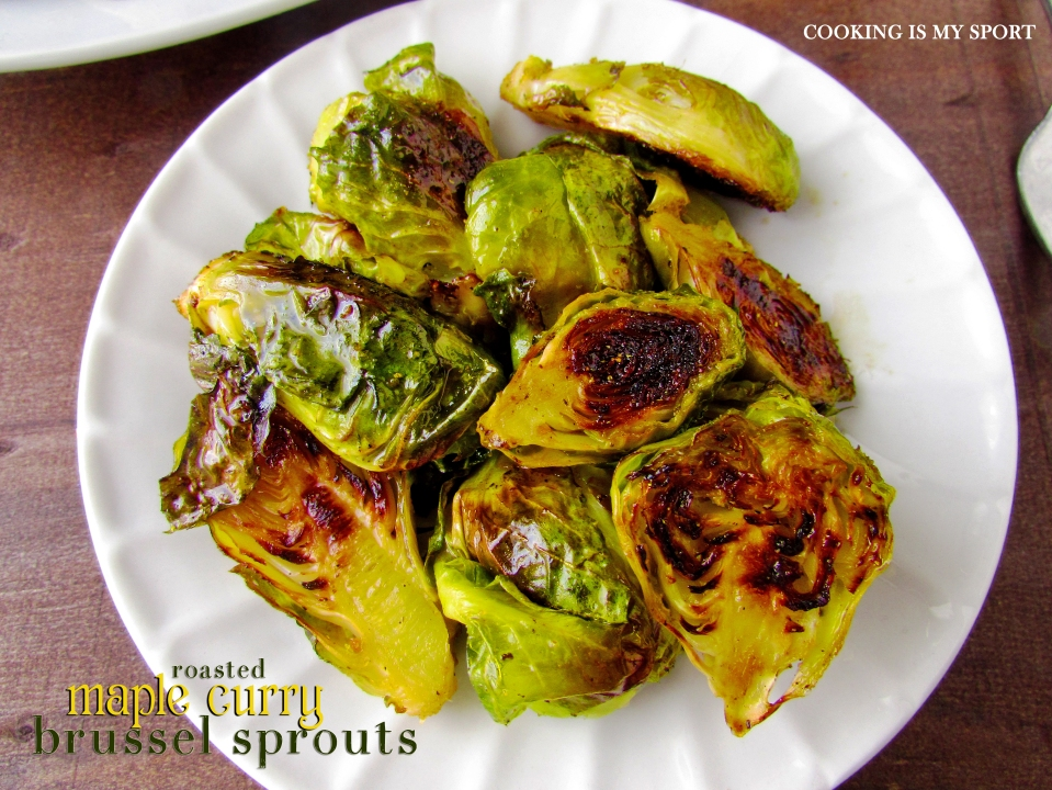 Maple Curry Brussel Sprouts3