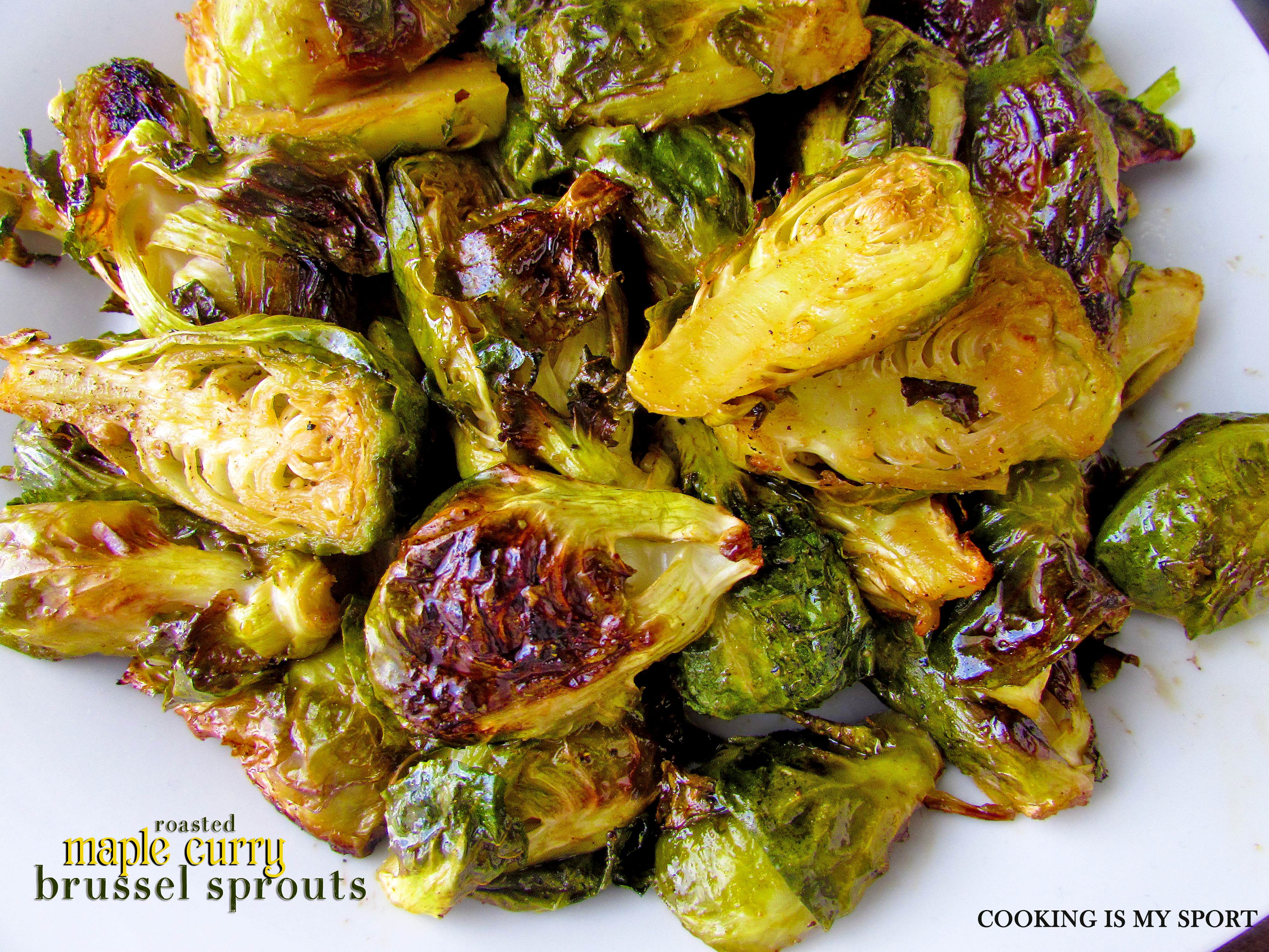 Maple Curry Brussel Sprouts4