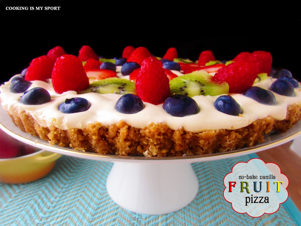 No Bake Vanilla Fruit Pizza4
