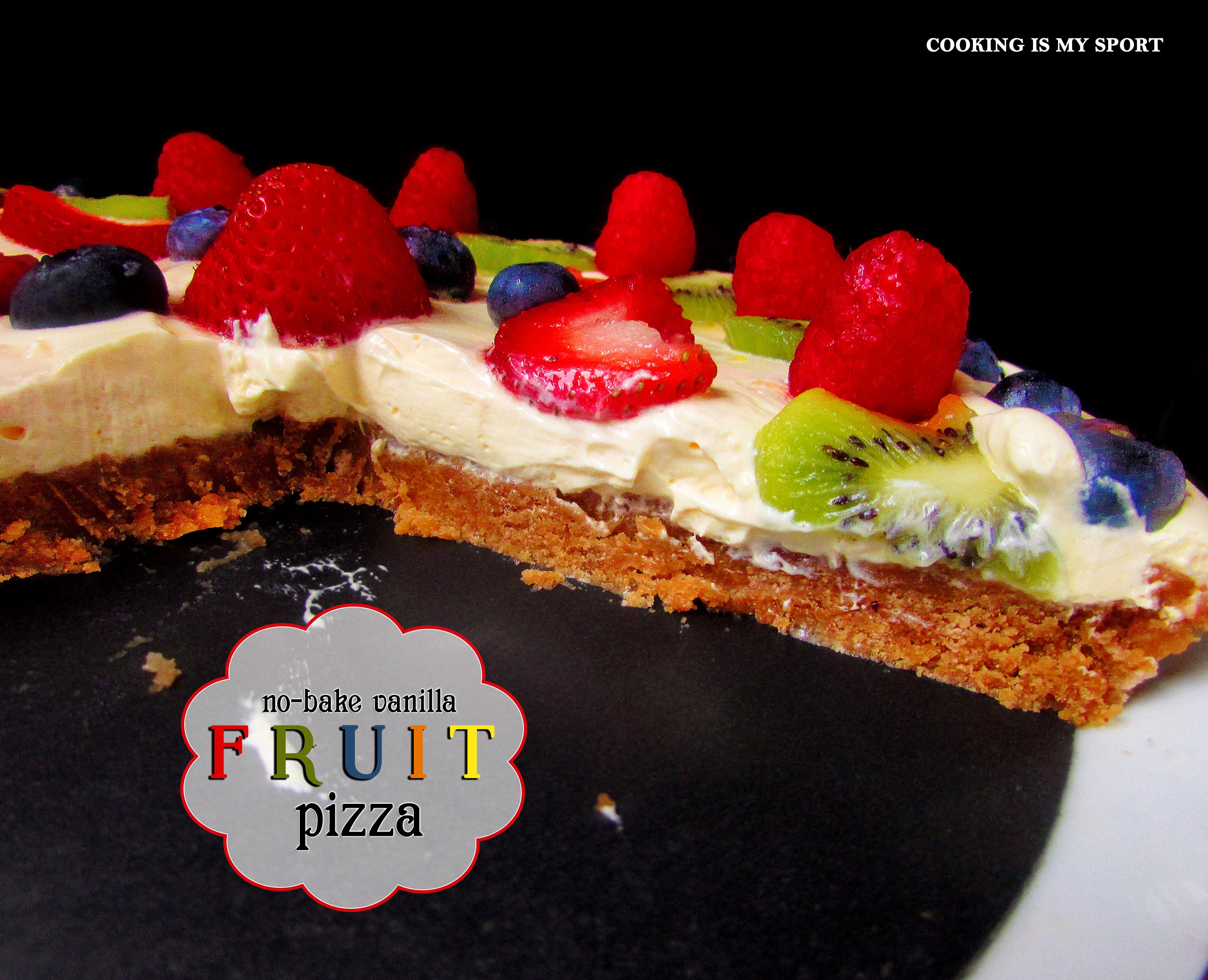 No Bake Vanilla Fruit Pizza5
