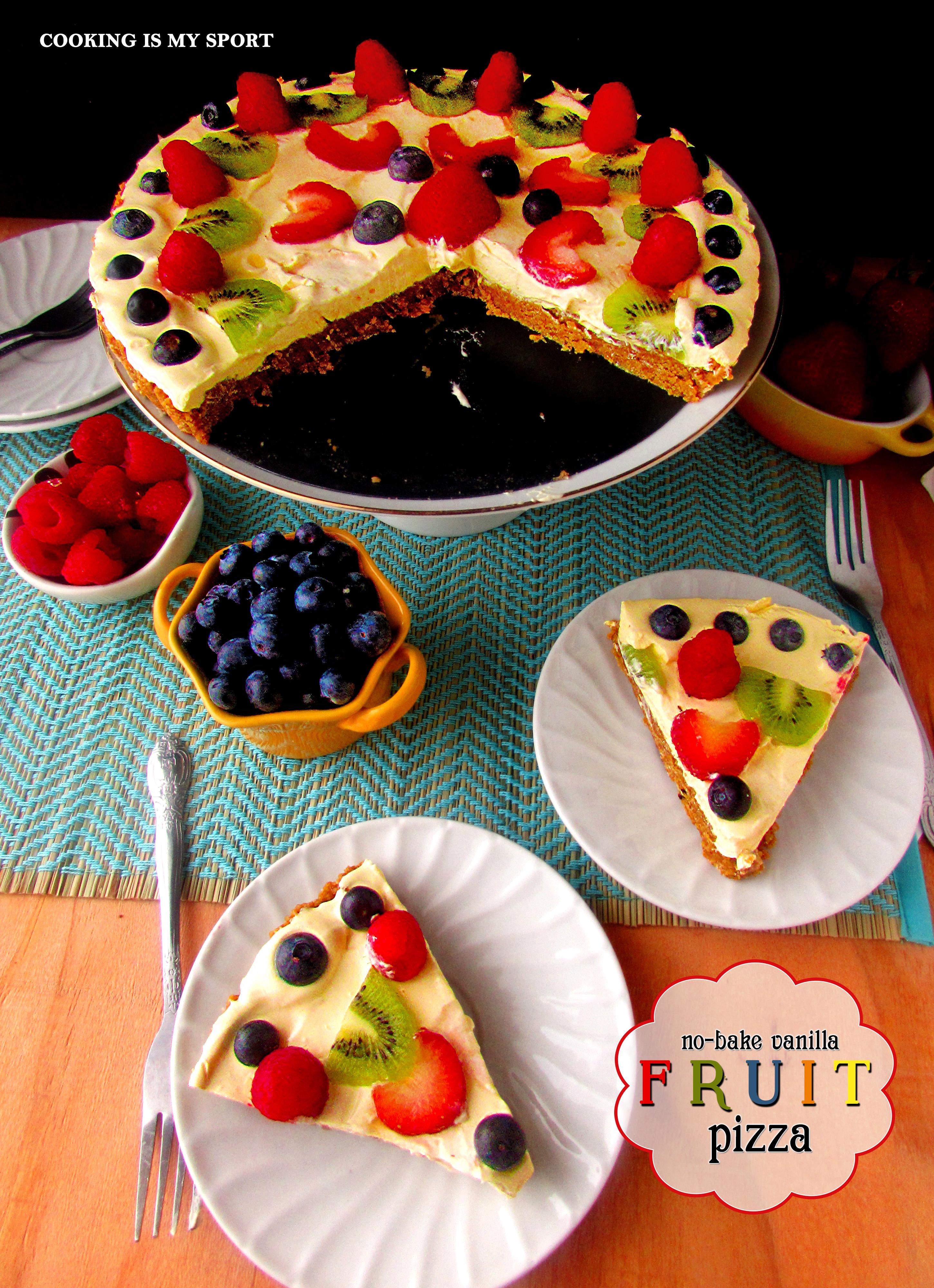 No Bake Vanilla Fruit Pizza6
