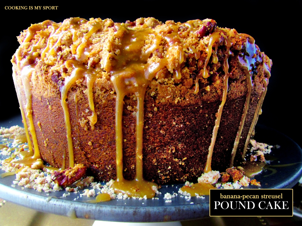 Banana Pecan Streusel Pound Cake1