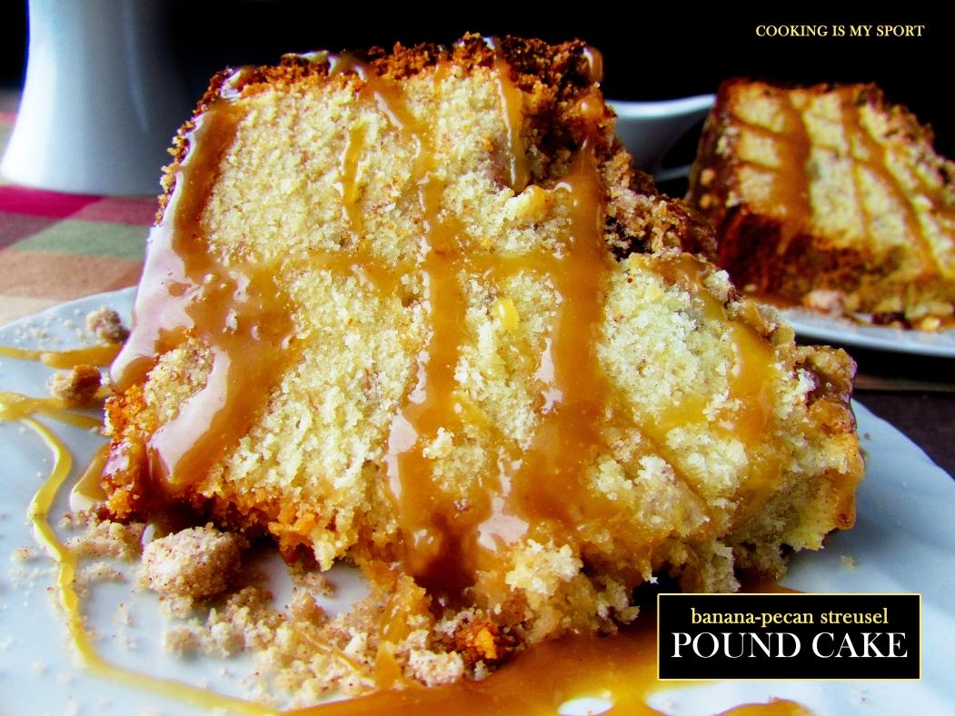 Banana Pecan Streusel Pound Cake5