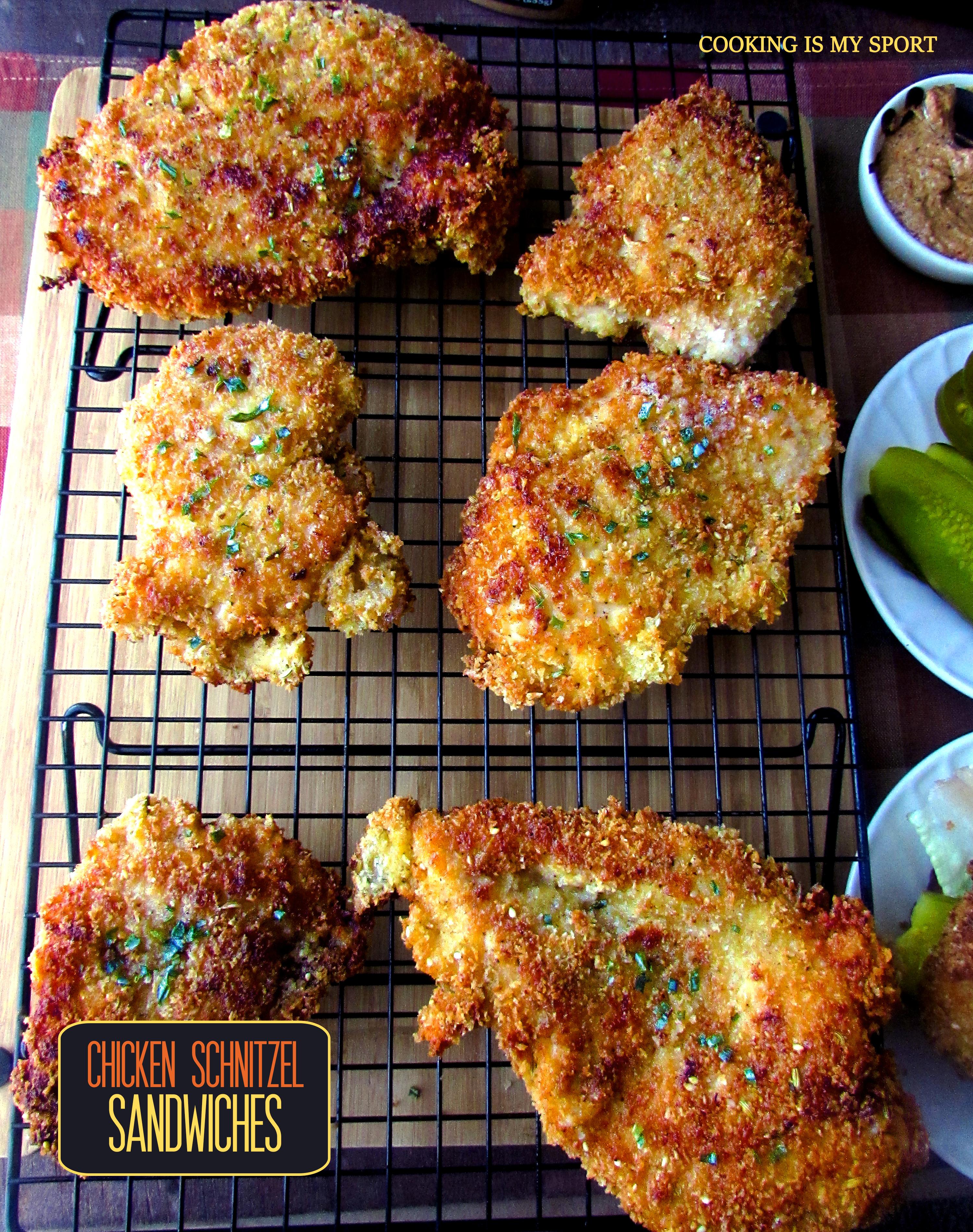 Chicken Schnitzel Sandwiches2