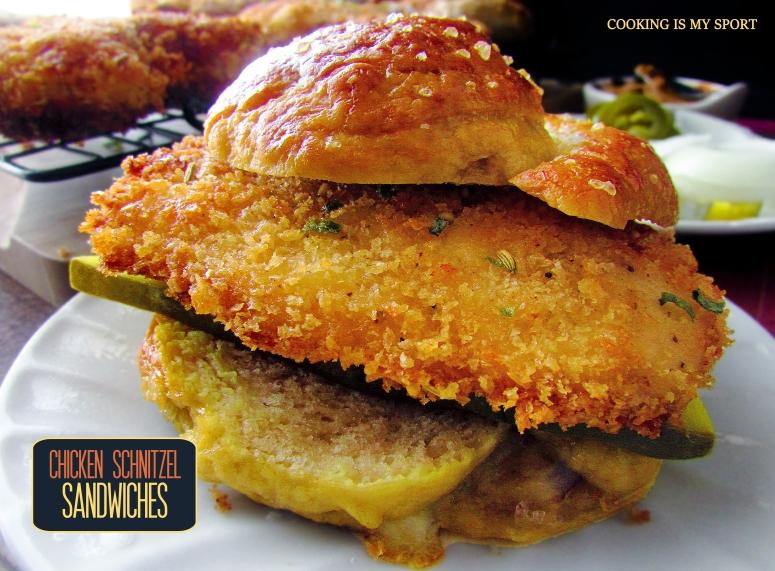Chicken Schnitzel Sandwiches3
