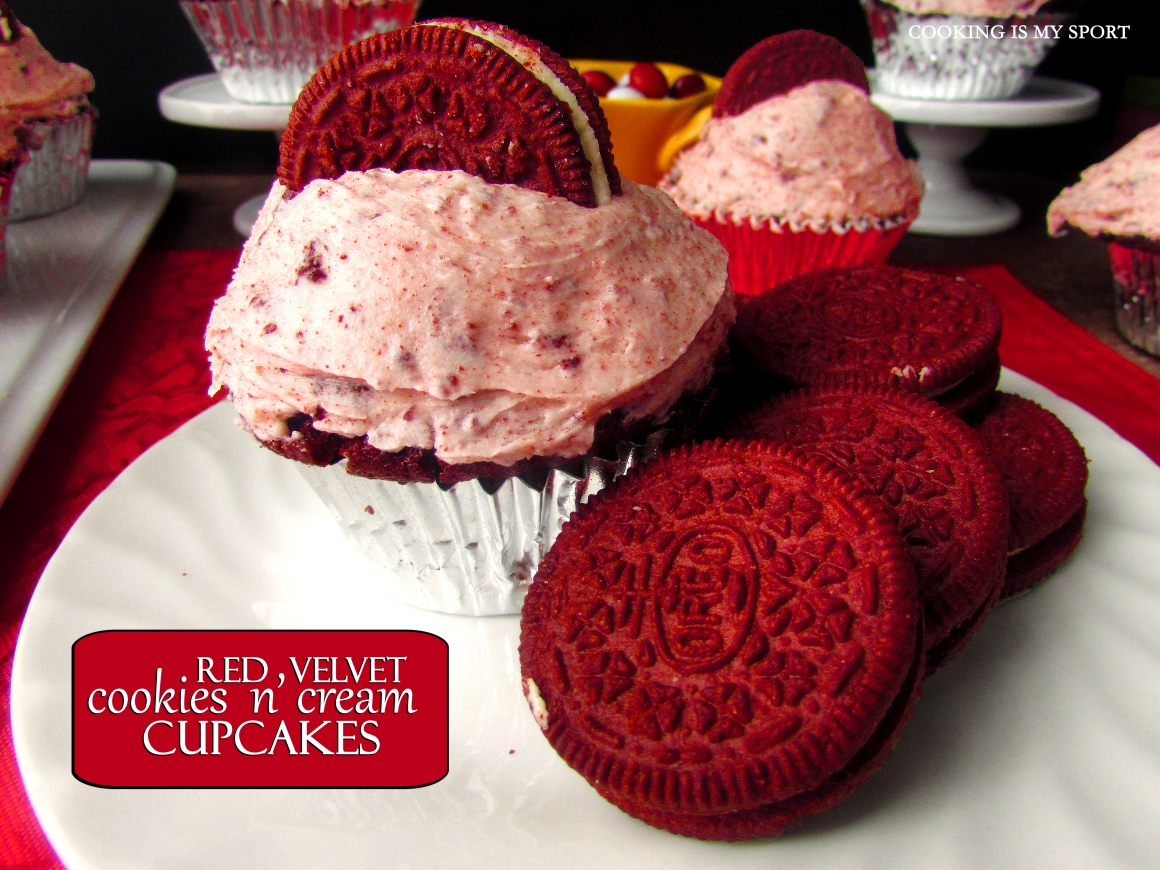 Red Velvet Cookies and Cream Cupcakes1