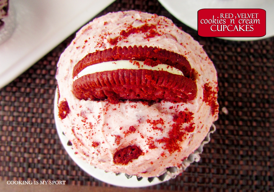 Red Velvet Cookies and Cream Cupcakes5