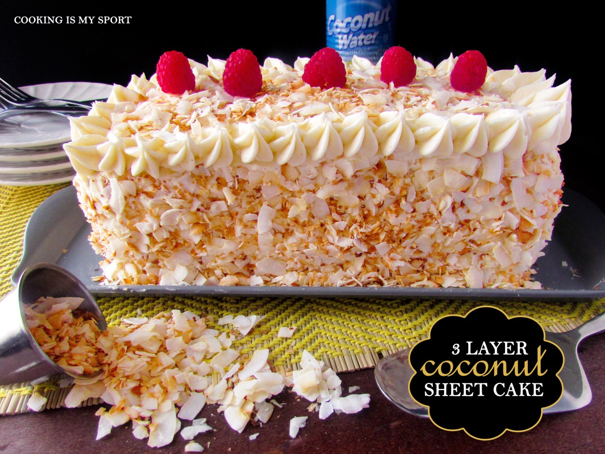 Three Layer Coconut Sheet Cake4