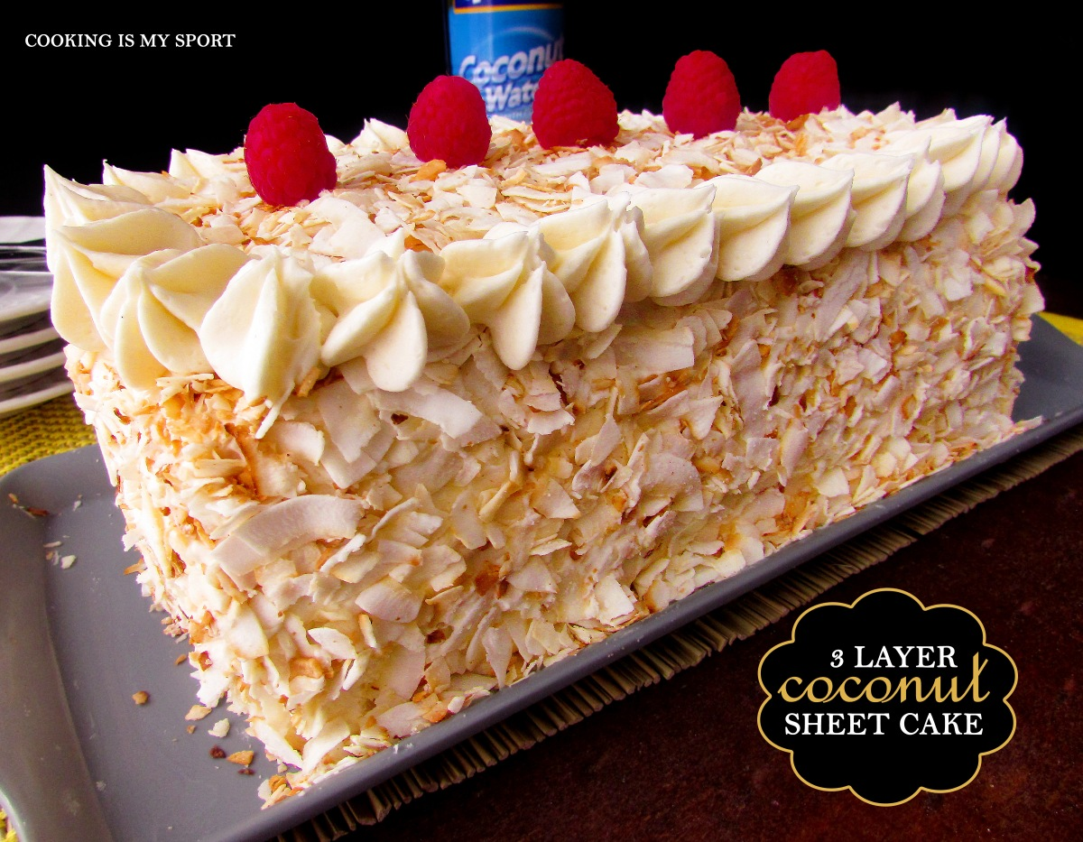 Three Layer Coconut Sheet Cake6