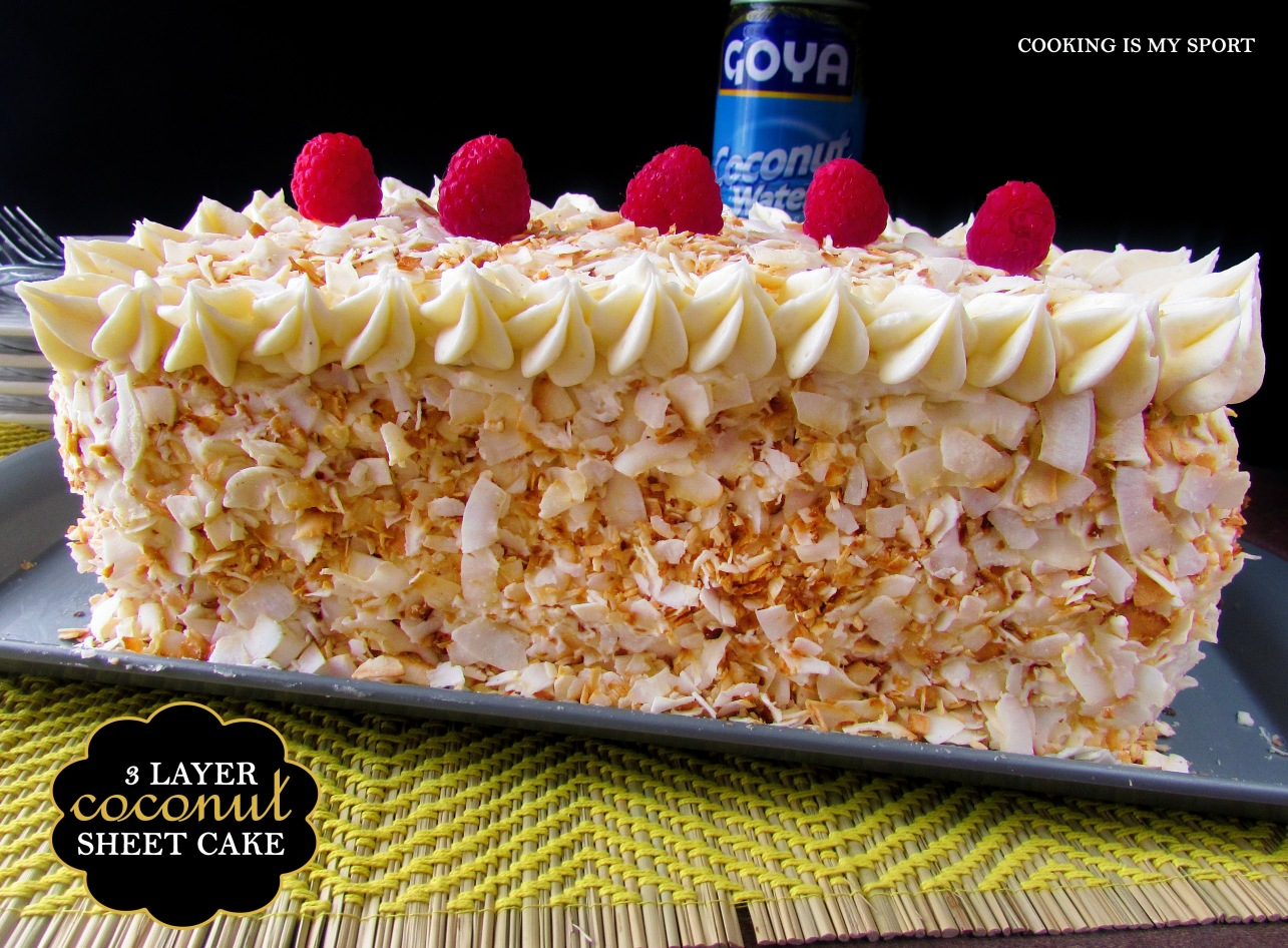 Three Layer Coconut Sheet Cake7