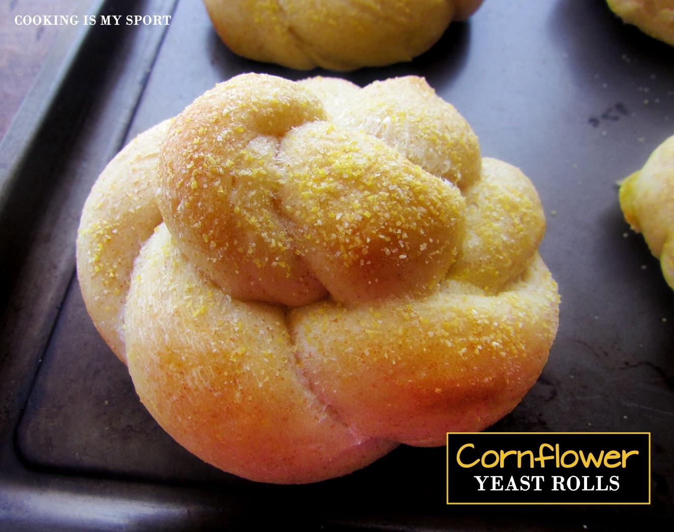 Cornflower Yeast Rolls1