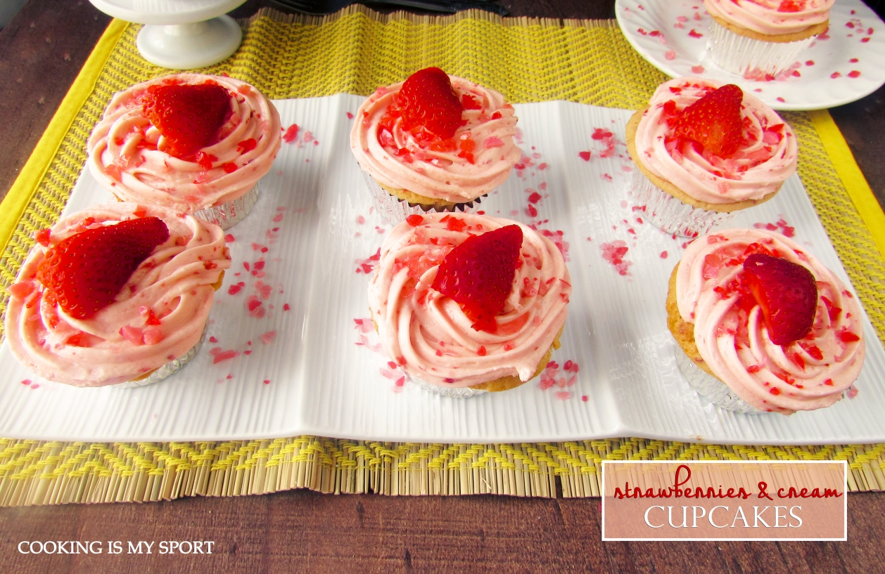 Strawberries and Cream Cupcakes2