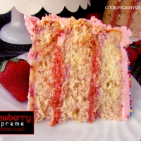 Strawberry Supreme Birthday Cake