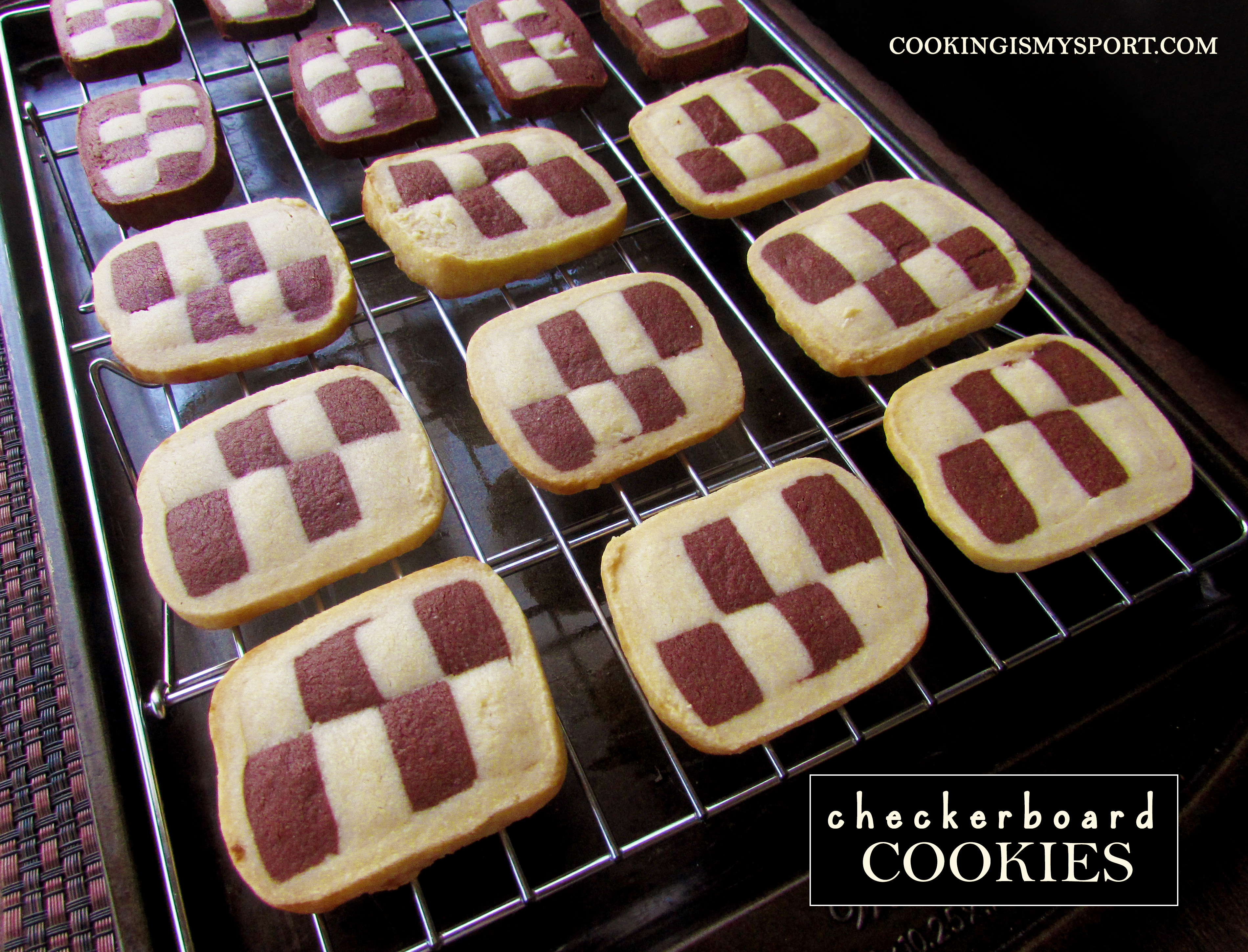Crunchy And Adorable Checkerboard Cookies Recipe