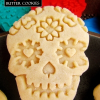 Sugar Skull Butter Cookies