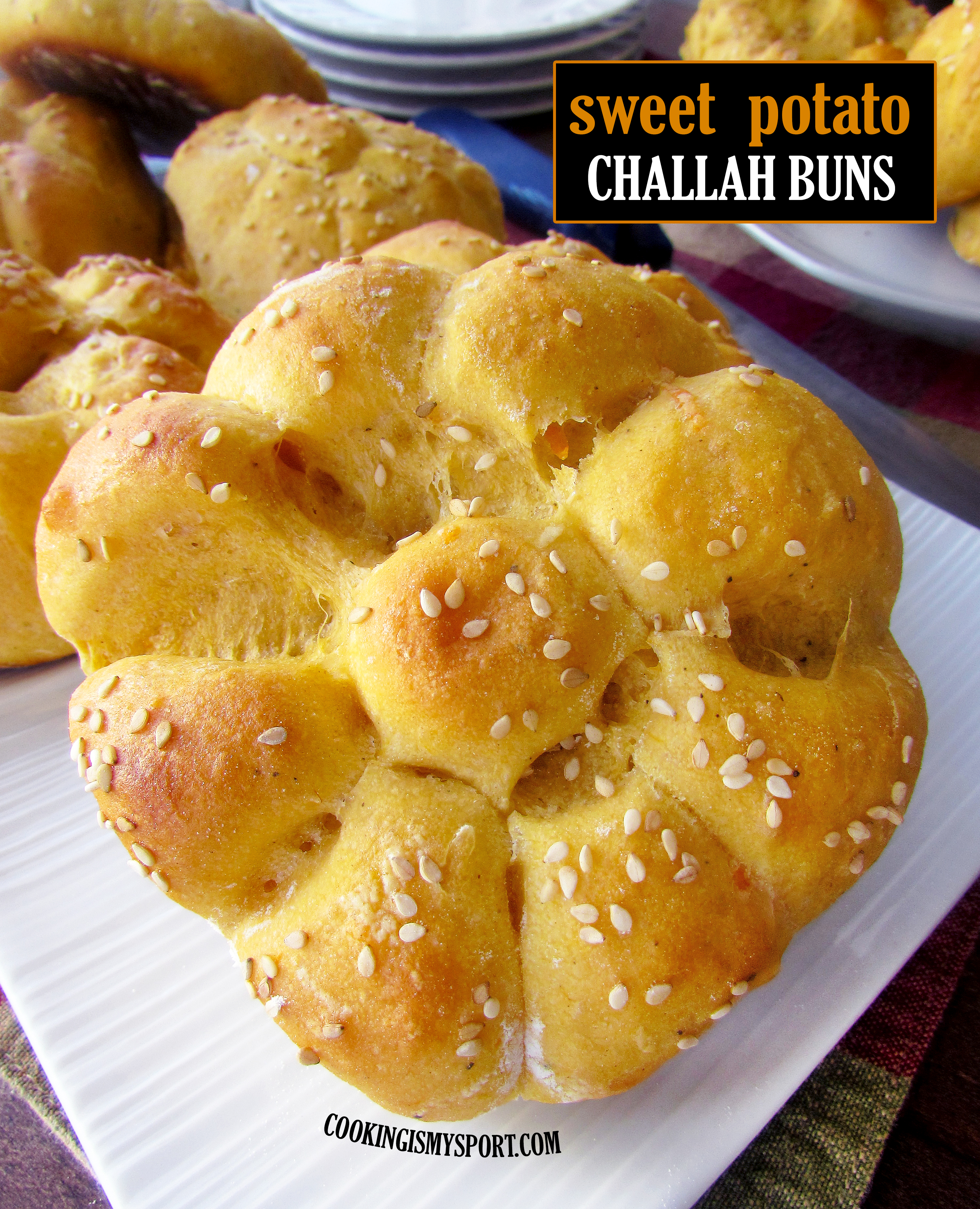 Sweet Potato Challah Buns — Cooking Is My Sport