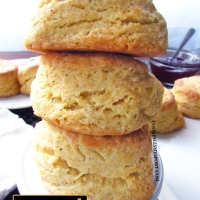 Cornmeal Biscuits and Honey Butter