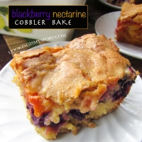 Blackberry-Nectarine Cobbler Bake