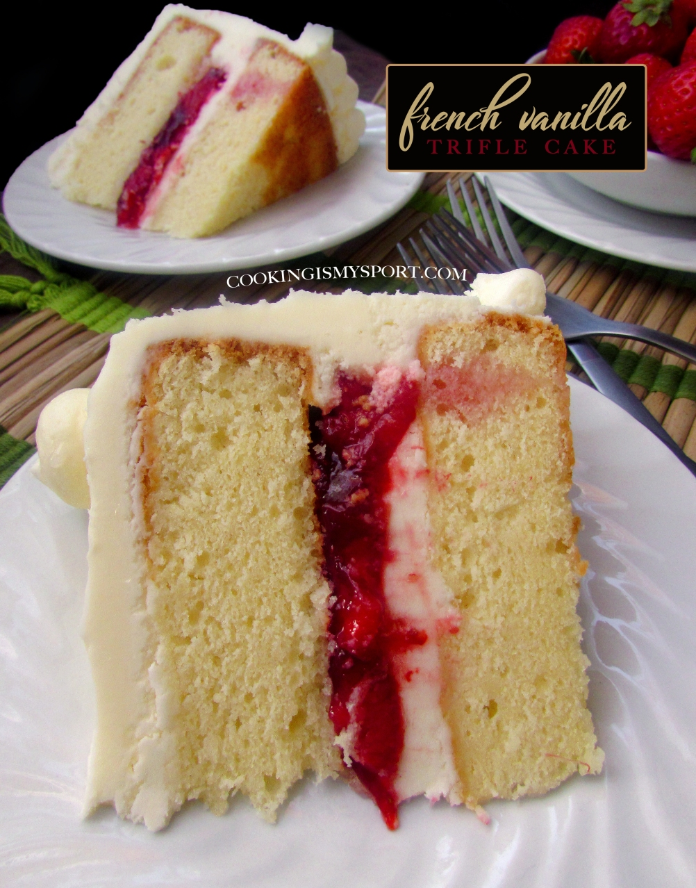 Strange French Vanilla Trifle Cake Cooking Is My Sport Funny Birthday Cards Online Overcheapnameinfo