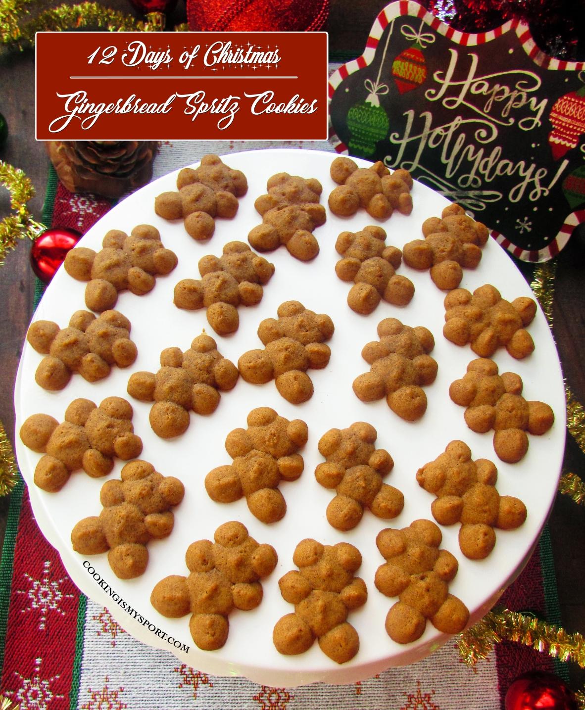 Gingerbread Spritz Cookies Cooking Is My Sport