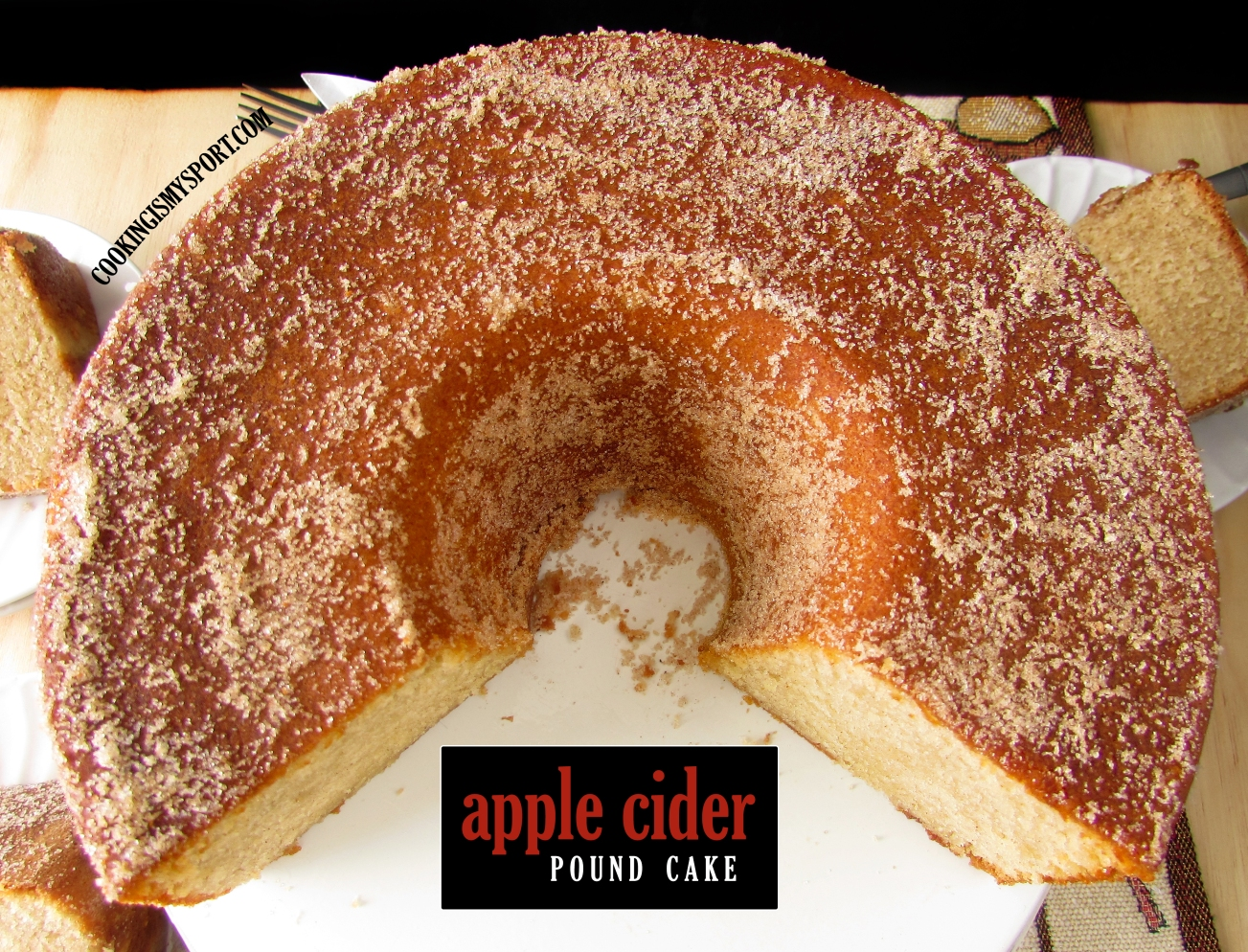 Pleasant Apple Cider Pound Cake Cooking Is My Sport Funny Birthday Cards Online Elaedamsfinfo