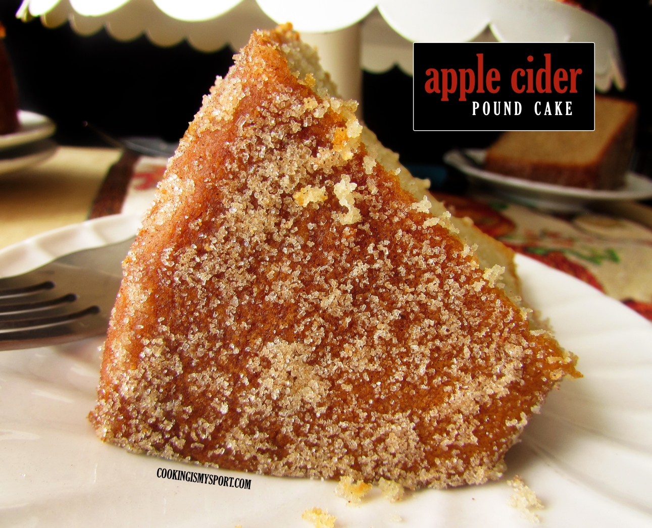 Stupendous Apple Cider Pound Cake Cooking Is My Sport Birthday Cards Printable Giouspongecafe Filternl