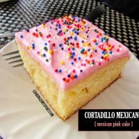 Cortadillo Mexicano (Mexican Pink Cake)