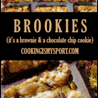 Brookies (It's a Brownie and a Chocolate Chip Cookie)
